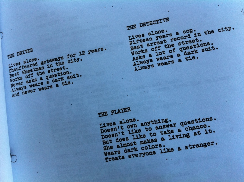 the_driver_walter_hill_notes