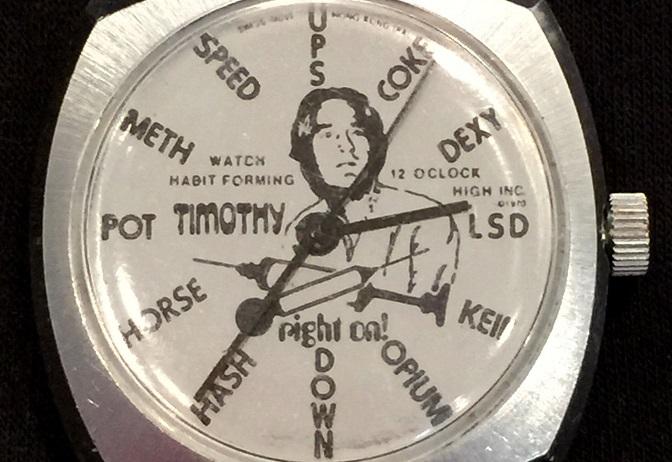 Na sprzedaż zegarek z Timothym Learym i dragami zamiast godzin!