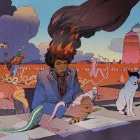 1999: Moebius tworzy psychedeliczną oprawę graficzną do książki o Hendrixie